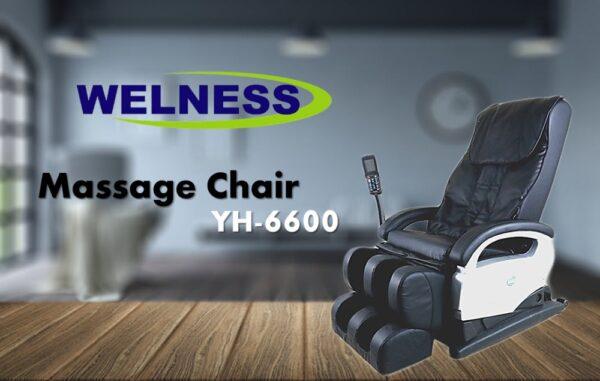 เก้าอี้นวดสุขภาพ Welness Massage Chair รุ่น YH-6600 Black สีดำ