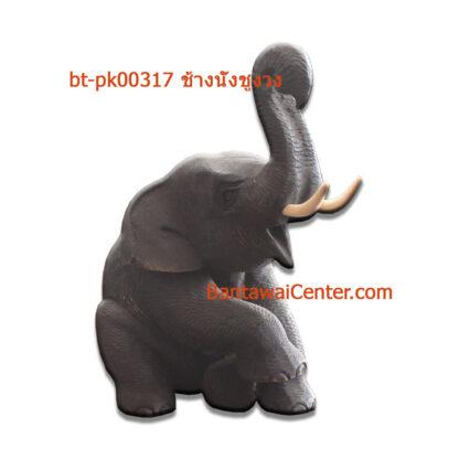 ช้างนั่งชูงวง