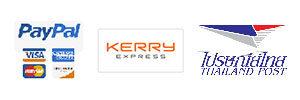 ชำระเงินโดย paypal จัดส่งโดย kerry จัดส่งโดย บ.ไปรษณีย์ไทย