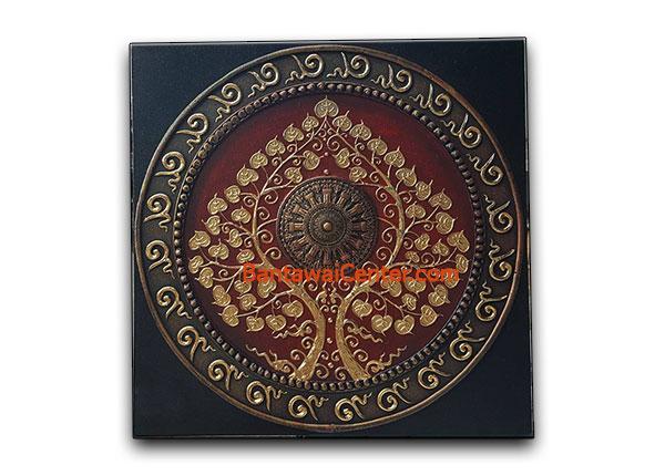ภาพวาดเฟรมผ้าใบลายทองนูน60x60cmpr3