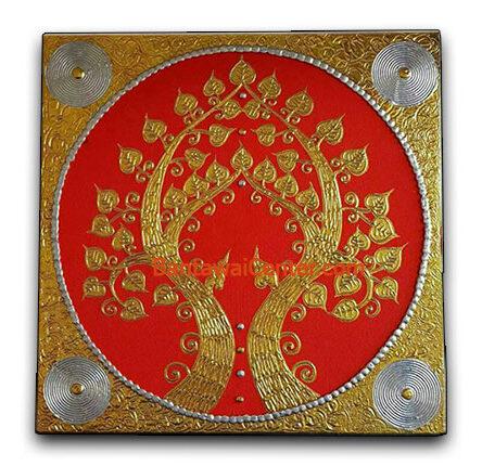 ภาพวาดเฟรมผ้าใบลายทองนูน60x60pgpr2